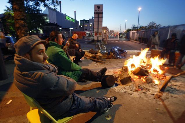 Spalio mėnesio streikas Prancūzijoje, dėl aukštų degalų kainų.